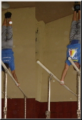 Handstand on Parallel bars in Gymnastics