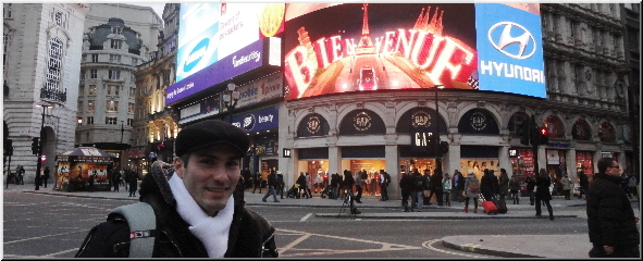 Stef at Piccadilly Circus