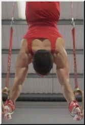 handstand on rings in gymnastics