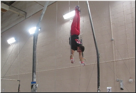 Stefan at Hendon Gym - Handstand on Rings