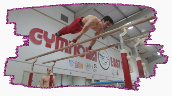 Stef Kolimechkov - planch on Parallel bars at east london gym - beckton