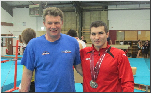 Stef with Simon Moore Sutton Gymnastics Academy