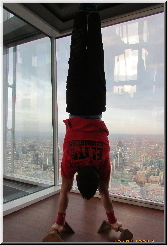 Gymnastics at the Shard in London