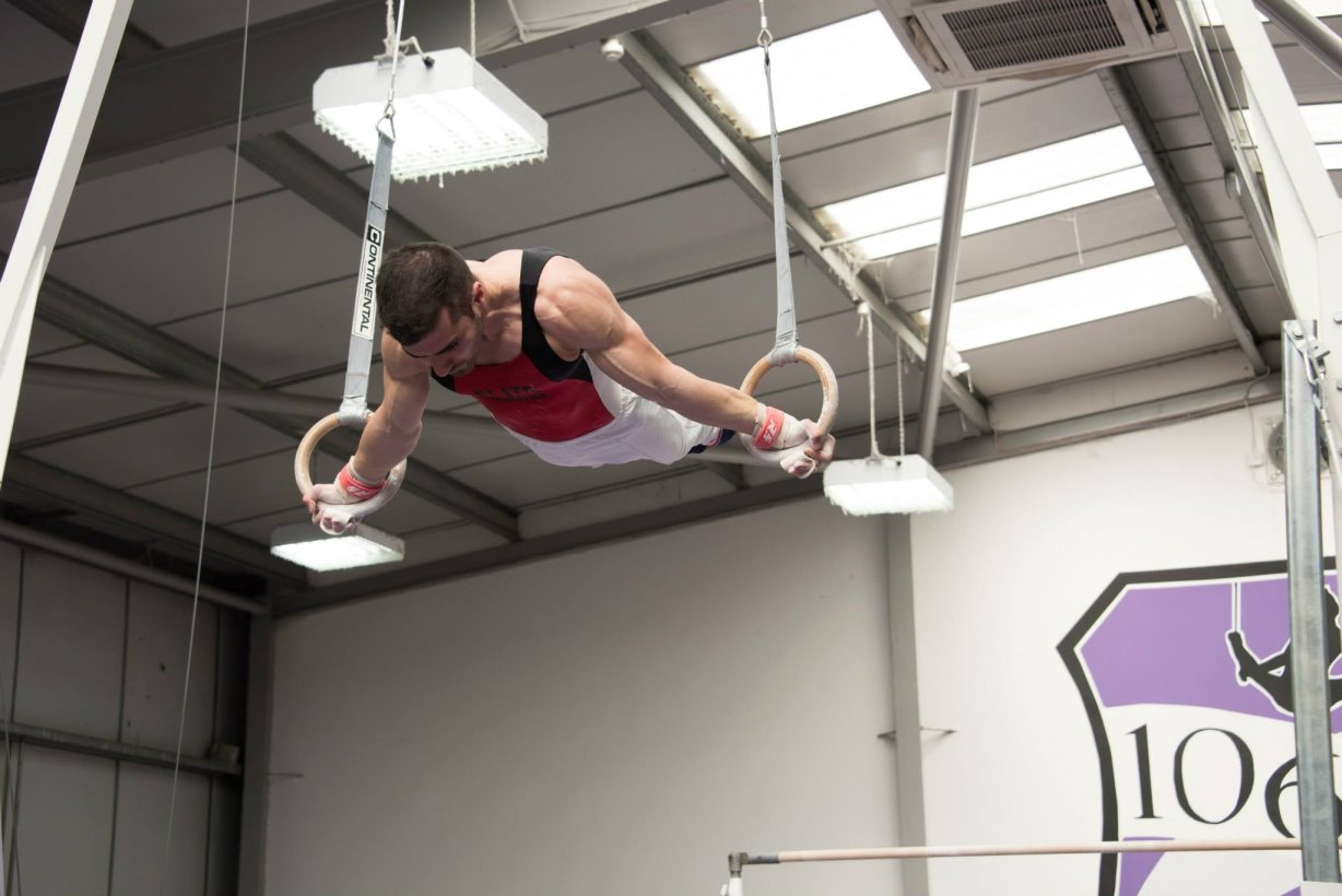 Rings at the 1066 Gymnastics Academy in England