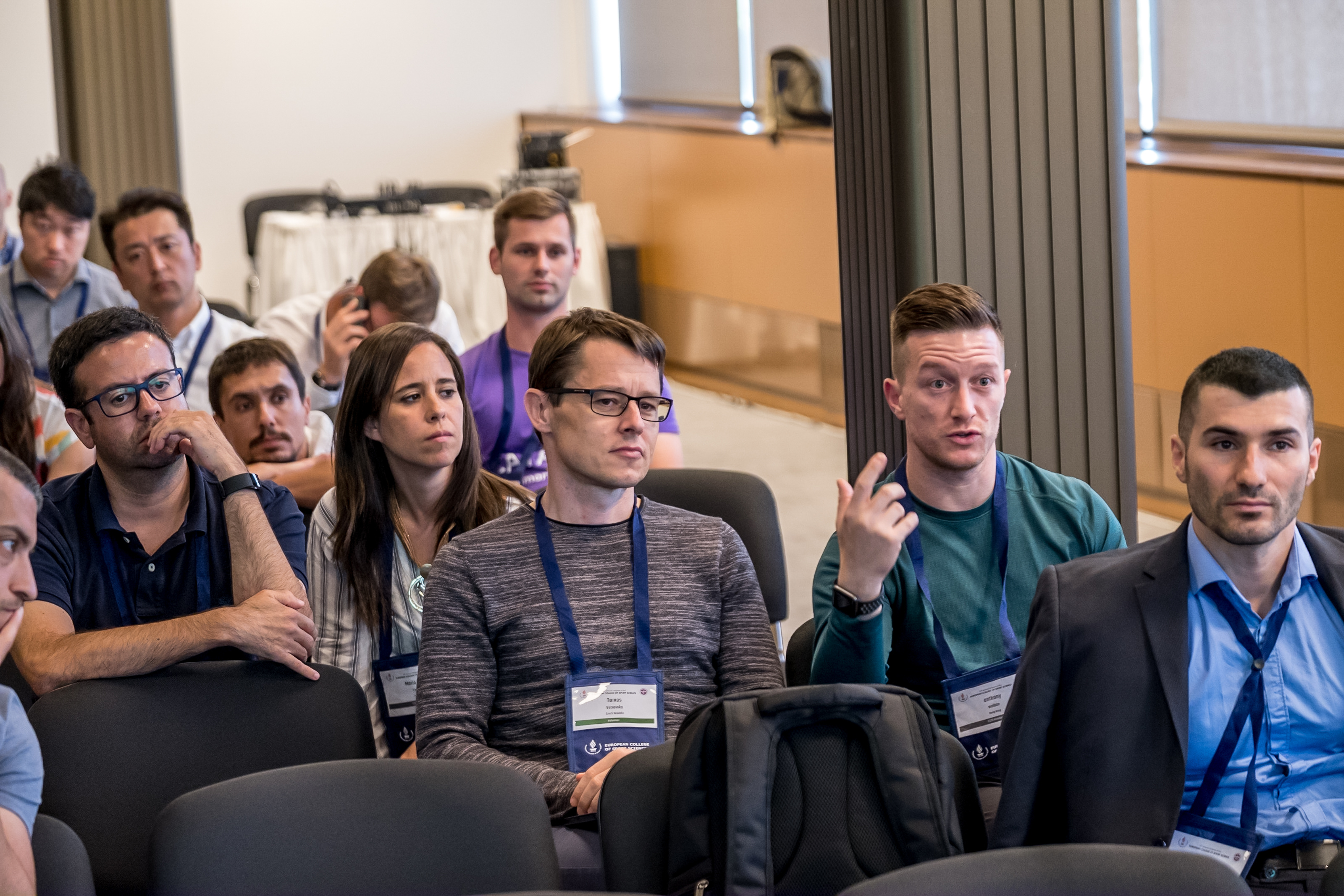 Sports Scientists at the paraller sessions of the ECSS Prague 2019