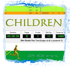 Software for Assessing Cardiorespiratory Fitness in Children by applying the Multi-Stage Fitness Test