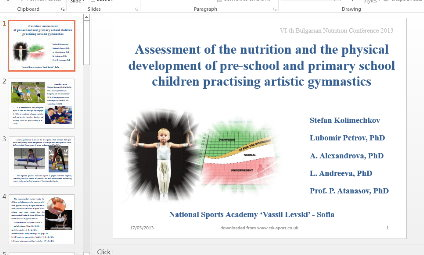 Assessment of the nutrition and physical development of pre-school and initial school-age children practising artistic gymnastics
