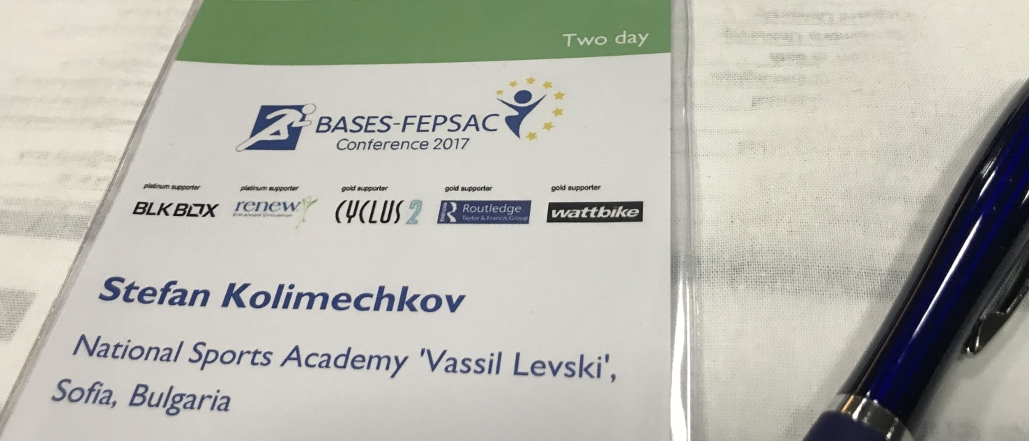 National Sports Academy Sofia Bulgaria at the BASES Conference