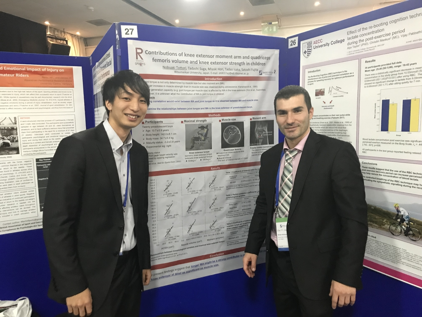 PhD students presenting at the BASES Conference