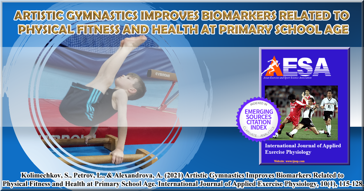 Artistic Gymnastics Improves Biomarkers Related to Physical Fitness and Health at Primary School Age