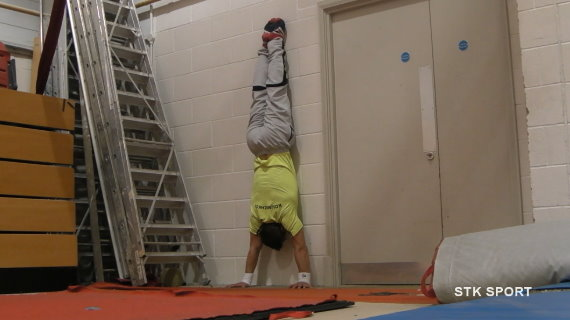 Handstand on Wall