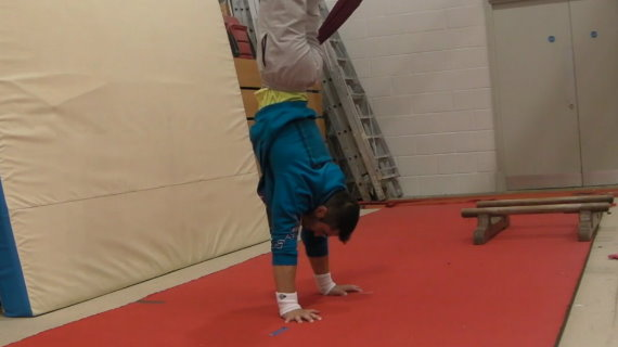 Jump to Handstand (legs together)