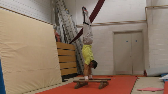 Press to Handstand on PB