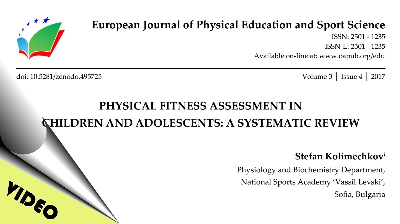 Physical Fitness Assessment in Children and Adolescents - Review Article